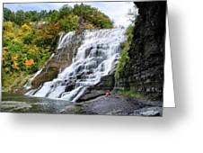 Ithaca Falls Greeting Card by Christina Rollo