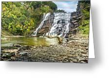 Ithaca Falls In Early Autumn Greeting Card