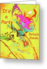 It's A Party Abstract Greeting Card