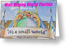 It's A Small World Poster Art Greeting Card