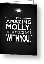 Its Amazing Molly Greeting Card
