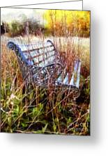 It's Been Awhile - Park Bench Greeting Card