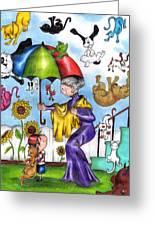 It's Raining... Greeting Card