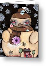 It's Snowing Greeting Card by  Abril Andrade Griffith