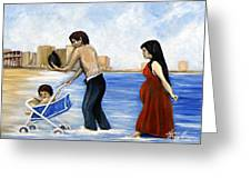 It's Tough In Coney Island Greeting Card