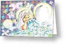 Itzpapalotl Y La Joven Virgin Greeting Card