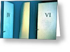 Iv Or Vi Greeting Card