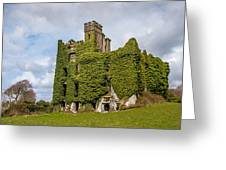 Ivy Covered Ruined Castle Ireland Greeting Card