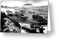 Iwo Jima Beach Greeting Card