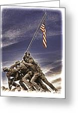 Iwo Jima Flag Raising Greeting Card