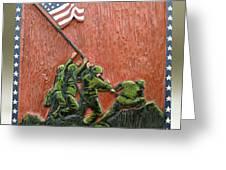 Iwo Jima Greeting Card by James Neill