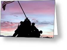 Iwo Jima Memorial In Arlington Virginia Greeting Card by Brendan Reals