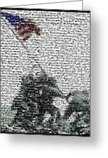 Iwo Jima War Mosaic Greeting Card