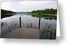 Izzys Pond With Dock Greeting Card by AnnaJanessa PhotoArt