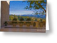 J Paul Getty Center Museum Terrace Greeting Card