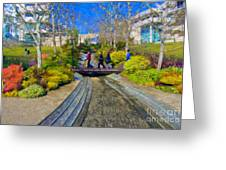 J Paul Getty Museum Garden Terrace Greeting Card