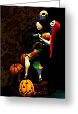 Jack And Sally Greeting Card by Thanh Thuy Nguyen