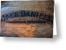 Jack Daniels Oak Barrel Greeting Card