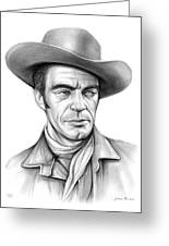 Cowboy Jack Elam Greeting Card