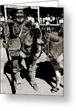 Jack Hendrickson With Pet Burro  Number 1 Helldorado Days Parade Tombstone Arizona 1980 Greeting Card