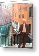 Jack In Venice Greeting Card