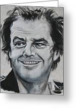 Jack Nicholson Greeting Card