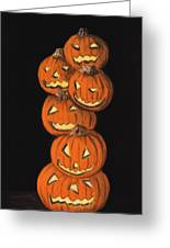 Jack-o-lantern Greeting Card