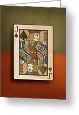 Jack Of Spades In Wood Greeting Card