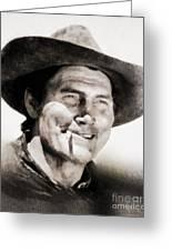 Jack Palance, Vintage Actor Greeting Card