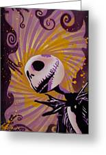 Jack Skellington Greeting Card by Tai Taeoalii