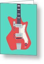 60's Electric Guitar - Teal Greeting Card
