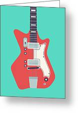 60's Electric Guitar - Teal Greeting Card