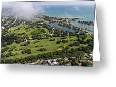Jackson Park Golf Course In Chicago Aerial Photo Greeting Card