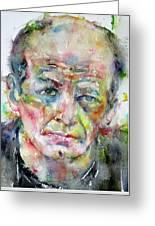 Jackson Pollock - Watercolor Portrait.3 Greeting Card