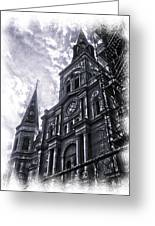 Jackson Square Cathedral Greeting Card