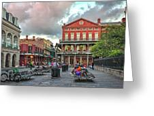 Jackson Square Evening Greeting Card