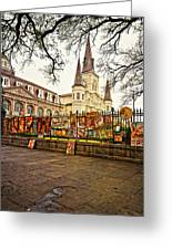 Jackson Square Winter - Artistic Greeting Card