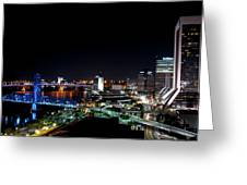 Jacksonville Fl At Night Greeting Card