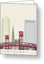 Jacksonville Skyline Poster Greeting Card