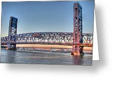 Jacksonville's Blue Bridge At Sunrise Greeting Card