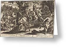 Jacob Kills Absalom, Son Of King David Greeting Card