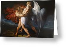 Jacob Wrestling The Angel Greeting Card