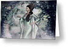 Jade Green Empress Greeting Card