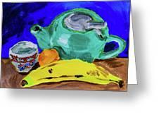 Jade Teapot  Greeting Card