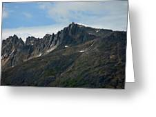 Jagged Mountain Greeting Card