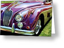 Jaguar 140 Coupe Greeting Card by David Kyte