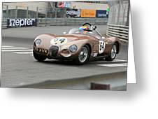 Jaguar C-type At Monaco Greeting Card