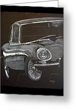 Jaguar E Type Greeting Card