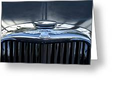 Jaguar Hood Ornament Greeting Card