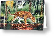 Jaguar On The Hunt Greeting Card
